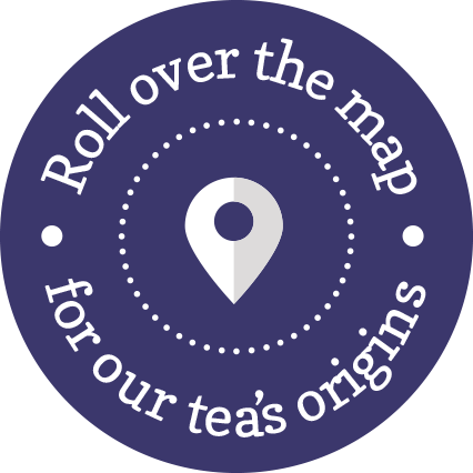 Roll over the map for our tea origins