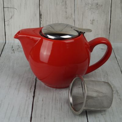 Red 'Tea for Two' 0.5l Teapot