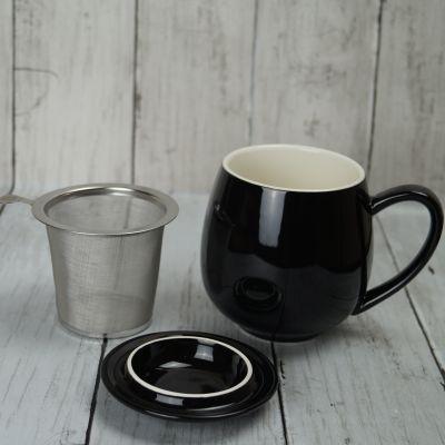 Black Infuser Mug