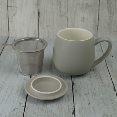 Matt Grey Infuser Mug