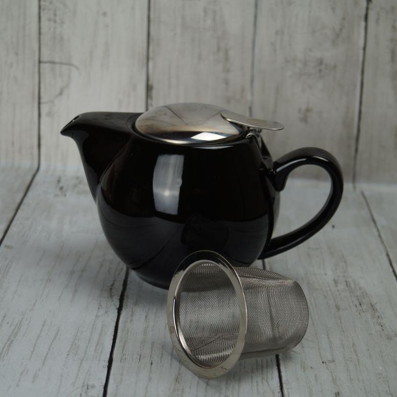 Black 'Tea for Two' 0.5l Teapot