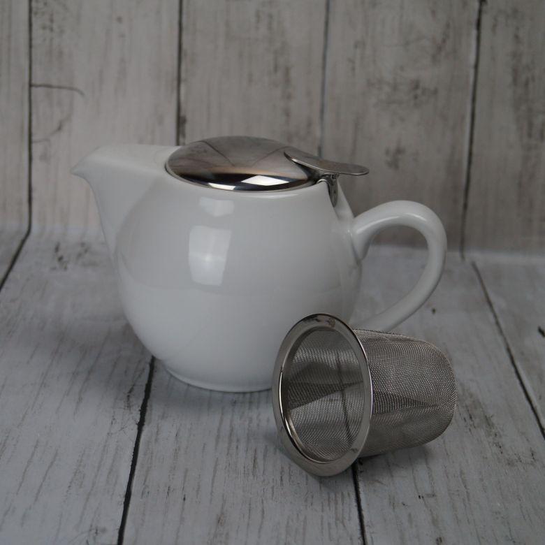 White 'Tea for Two' 0.5l Teapot