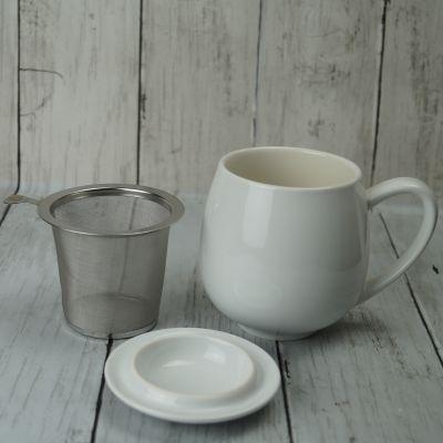 White Infuser Mug