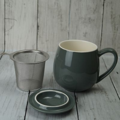Grey Infuser Mug