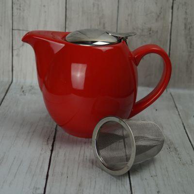 Red 0.9l Family Teapot